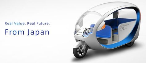 Space-age electric tuk-tuk ready for taxi passengers in Philippines