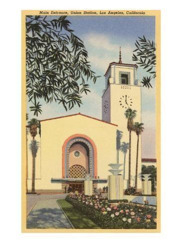 Union Station Los Angeles California Art Print Art Com In 2020 California Art California Poster Magnolia Box