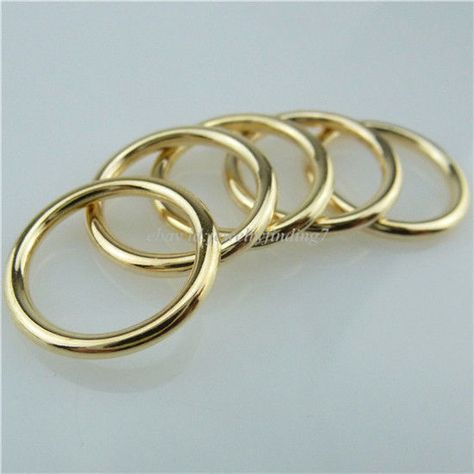 100 Figure 8 Open 7x3mm Link Connector Ring Jumpring Findings Plated Brass Metal