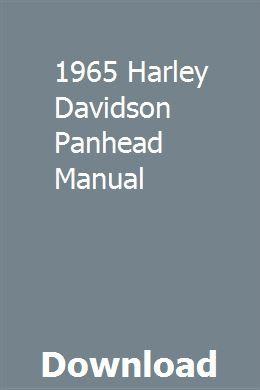 1965 Harley Davidson Panhead Manual Repair Manuals Electrical Diagram Manual