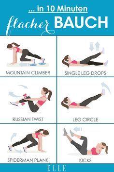 Flacher Bauch in 10 Minuten: Mit diesem Workout funktioniert's