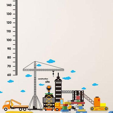 Darus, munkagépes építkezés magasságmérő falmatrica #magasságmérő #város #épitkezés #munkagép #city #gyerekszobafalmatrica #falmatrica #gyerekszobadekoráció #gyerekszoba #matrica #faldekoráció #dekoráció