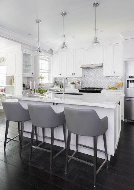 Kitchen White Marble Modern Bar Stools 20 Ideas For 2019 White