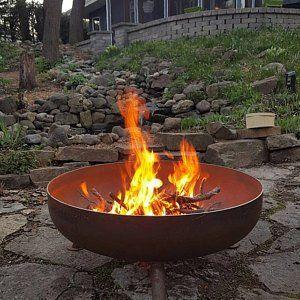 Wido 80cm Large Fire Pit Bowl Black Outdoor Garden Log Burner Patio Heater Pot Camping