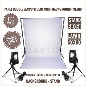 Paket Lampu Foto Studio Mini 10 Watt Lengkap Stand Background Mini Tripod Murah Lighting Foto Produk By Rezastore Tripod Lighting Studio