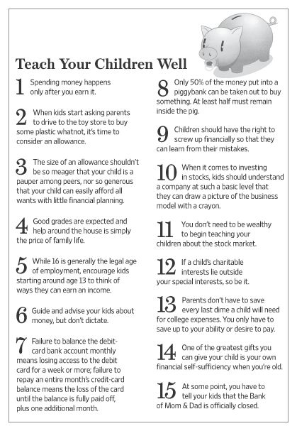 The 15 Money Rules Kids Should Learn