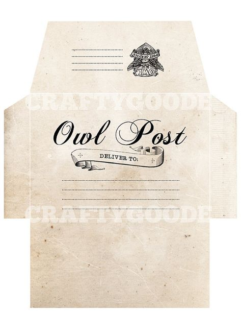 photo about Harry Potter Envelope Printable named Pinterest