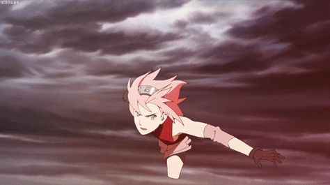 Sakura   if you used this gif for the one punch man opening.... Hehe