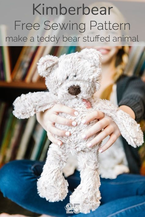 Introducing the Kimberbear, A Little Stuffed Bear for Children in Need Teddy Bear Patterns Free, Teddy Bear Sewing Pattern, Plush Pattern, Free Pattern, Diy Teddy Bear, Knitted Teddy Bear, Crochet Teddy, Animal Sewing Patterns, Sewing Patterns Free