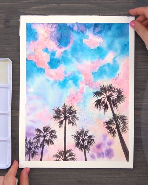 Capture magnificent sunsets and views with Arteza Watercolor Paint!