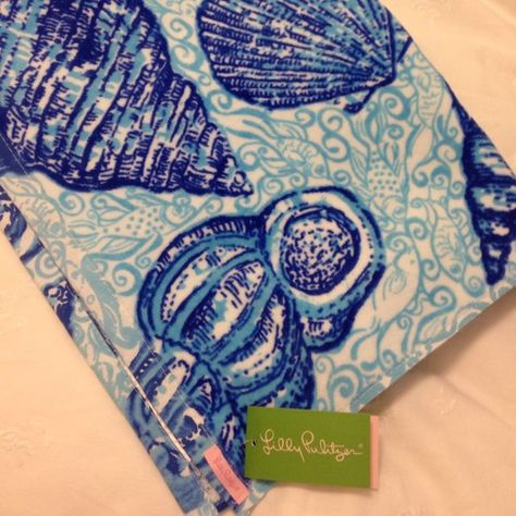 "Limited Edition Lilly Pulitzer ""Stuffed Shells"" Beach Towel"