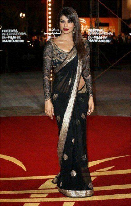 8122e6f0c6617c How To Style Your Saree Like A Diva | Sarees! | Saree blouse, Saree ...
