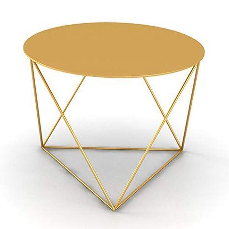 Chunlan Wrought Iron Coffee Table Living Room Round Sofa Side