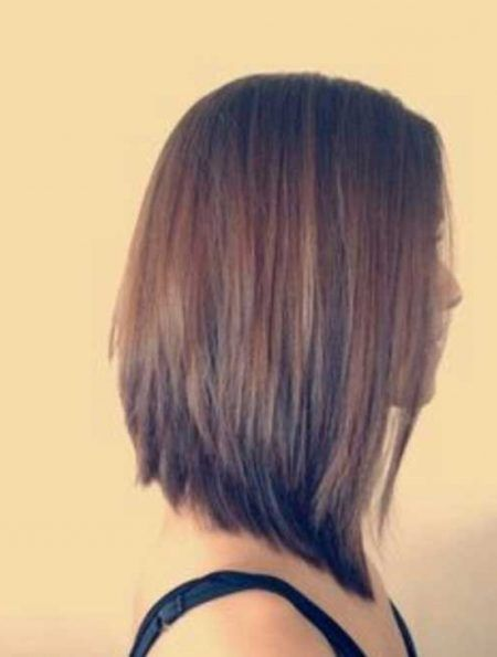 Long Angled Bob Haircut Back View Sweet Haircuts Hair Styles Long Bob Haircuts Angled Bob Hairstyles