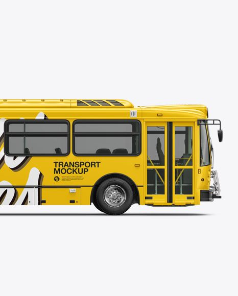 Download Psd Mockup Auto Bus Car City Heavy Duty Nabi Public Bus