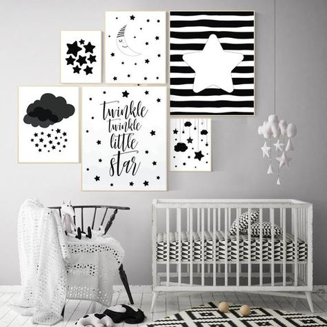 Black And White Nursery Prints Baby