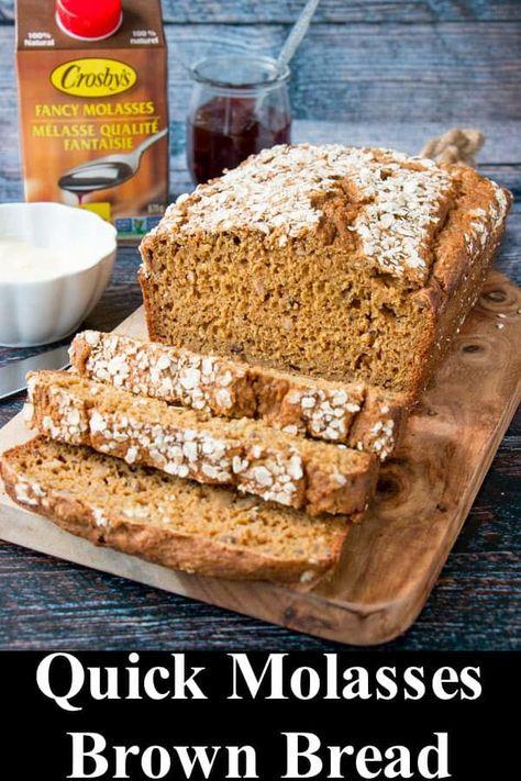 Quick Molasses Brown Bread