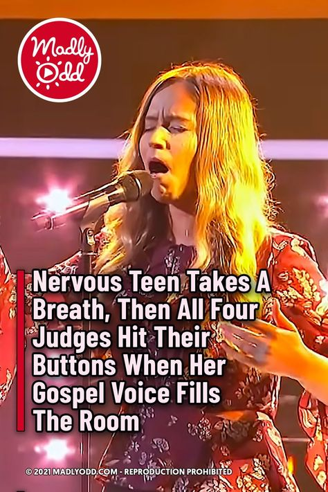 Nervous Teen Takes A Breath, Then All Four Judges Hit Their Buttons When Her Gospel Voice Fills The