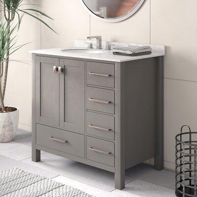Beachcrest Home Newtown 36 Single Bathroom Vanity Set Base Finish Gray Single Bathroom Vanity Double Vanity Bathroom Bathroom Design