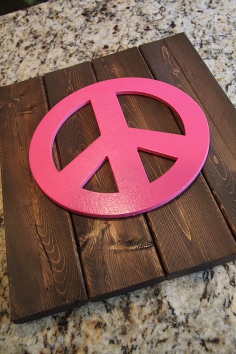 PEACE SYMBAL SIGN MULTI COLOURED WOODEN SLAB /& BEAD FRIENDSHIP WOOD BRACELET