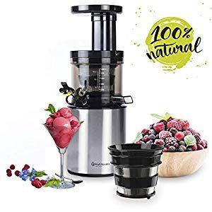 Nutrilovers Slow Juicer Obst & Gemüse | BPA Frei Entsafter