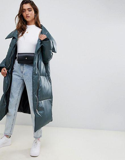 – Mit Asos Gesteppte Wickeldesign Vorn Oversize Jacke Design UzpMqSGV