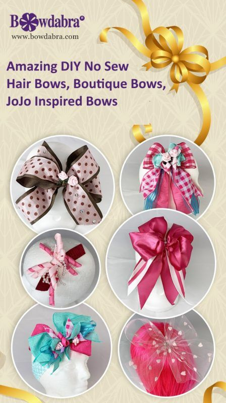 Amazing Diy No Sew Hair Bows Boutique Bows Jojo Inspired Bows Boutique Bows Unique Hair Bows Diy Bow