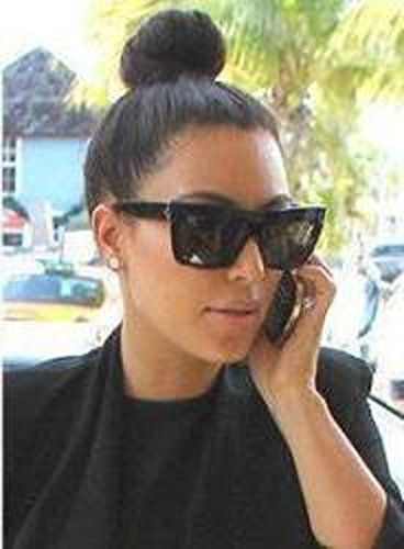 619603ec68a51 Kim Kardashian wearing Celine ZZ Top 41756 Sunglasses