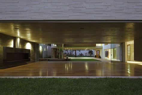 Wohnzimmer-Innenarchitektur, opulente Villa mit Envinronment Trog - innenarchitektur design modern wohnzimmer
