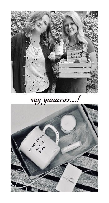 Maid Of Honor Proposal Box Funny Bridesmaid Proposal In 2019