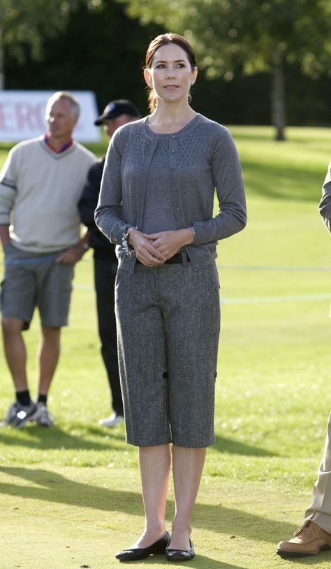 9 September 2007 As Patron Crown Princess Mary Attended The Finals At The Nykredit Masters Golf Tournament In Helsingor Prinzessin Mary Prinzessin Danemark
