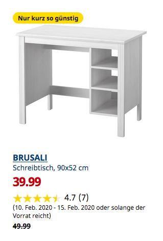Ikea Chemnitz Brusali Schreibtisch Weiss 90x52 Cm In 2020