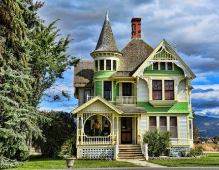 28 Trendy Ideas House Old Style Exterior Colors House Victorian Homes Queen Anne House House