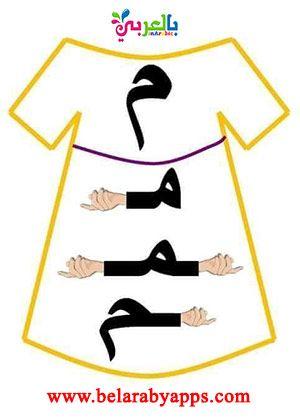 أشكال الحروف العربية حسب موقعها من الكلمة مواضع الحروف للاطفال بالعربي نتعلم Learn Arabic Alphabet Arabic Kids Arabic Alphabet For Kids
