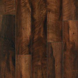 Pergo MAX 6.14-in W x 3.93-ft L Mountain Ridge Walnut Smooth Laminate Wood Planks