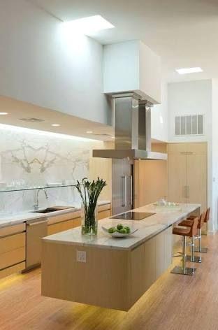 Image Result For Island Bench Floating Contemporary Kitchen Kitchen Design Kitchen Hood Design