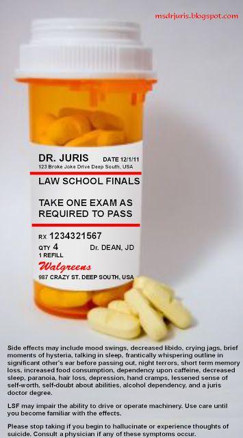 Law School Finals Take Only As Directed Law School Law School