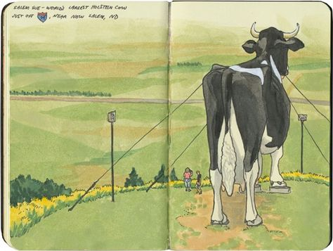 Drawn the Road Again: Inside the Travel Sketchbooks of Chandler OLeary as She Explores the U.S.