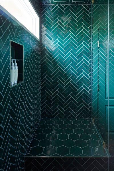 5 Bathroom Floor Tile Stickers That Look Convincingly Real Green Tile Bathroom Green Bathroom Tile Bathroom