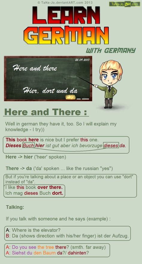 Learn German - Here and There by TaNa-Jo on DeviantArt
