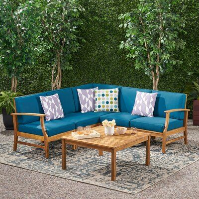 Lark Manor Pardue 6 Piece Sectional Seating Group With Cushions
