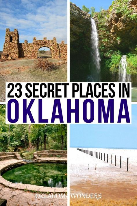 Looking for the best secret spots in Oklahoma? From ghost towns to hidden swimming pools to secret holy cities, these are the best Oklahoma hidden gems! Vacation Places, Vacation Spots, Places To Travel, Vacations, Travel Things, Beautiful Places To Visit, Oh The Places You'll Go, Cool Places To Visit, Oklahoma City Things To Do