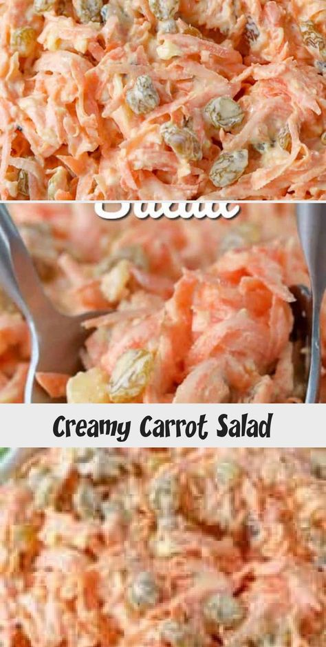 Homemade carrot salad is one of our go-to salad recipes for potlucks. It's an easy, classic, and make ahead side dish! #spendwithpennies #carrotsalad #carrots #carrot #salad #sidedish #classiccarrotsalad #Veggiesaladrecipes #Chickensaladrecipes #saladrecipesMealPrep #Greeksaladrecipes #saladrecipesFeta