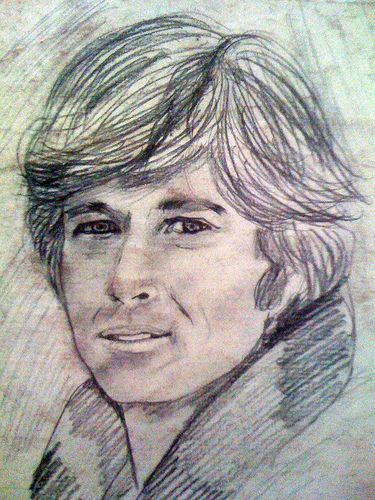 Charcoal Portraits Robert Redford by Frederico Domondon