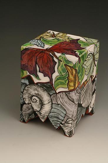 Persephone Box With Butterflies By Farraday Newsome Ceramic Box Artful Home Ceramic Boxes Slab Ceramics Ceramics
