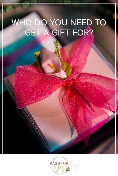 Let's talk wedding gifts! No, not wedding gifts for you, but gifts you give to others for your wedding. So, who do you need to get a gift for? And how much should you spend?⁠ Click to read useful tips and advice from the planning pros at Passport to Joy regarding your wedding budget and gifts, including favors, wedding party gifts, and thank you presents for family and friends.⁠ #weddingfavors #weddingpartygifts #weddingbudget