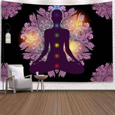 Arazzo Mandala Chakra interno - 73x95 cm 38x29 pollici