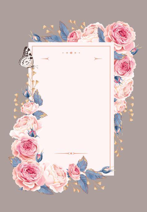 Climbing Roses - Wedding Invitation Template (free) | Greetings Island