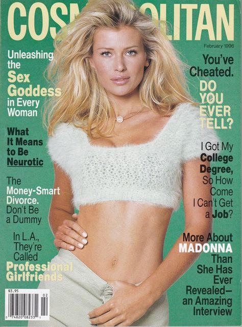 1996 Cosmopolitan Magazine - Czech Stunner Daniela Pestova Rock It All for Cosmo