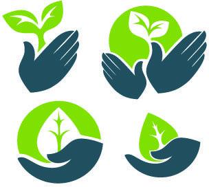 الايكولوجية نمط الشعارات الإبداعية ناقلات Vector Free Creative Logo Vector Logo